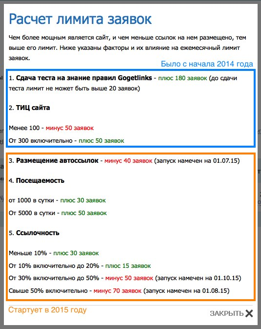 Перераспределение заявок в Gogetlinks